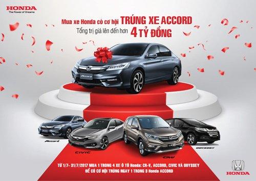 Mua xe Honda trúng xe Accord trong tháng 07/2017