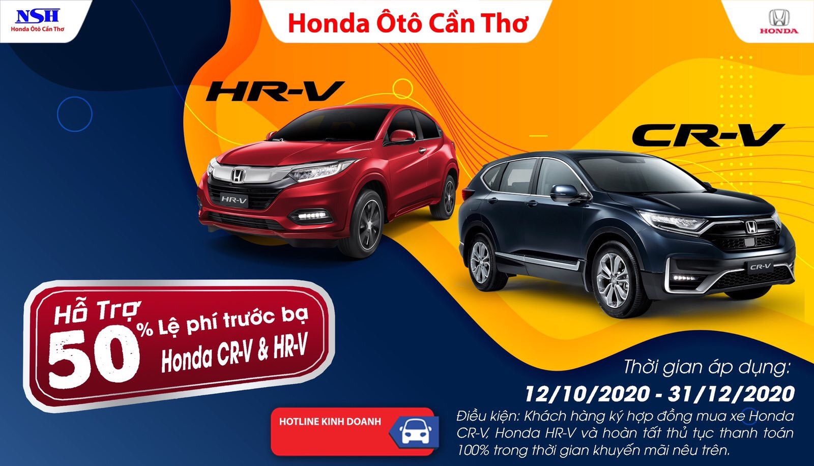 Chương trình hỗ trợ đặt biệt cho mẫu xe Honda CR-V 2020